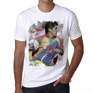Jorge-Campos-t-shirt-homme-Manches-Courtes-Coton-blanc-cadeau