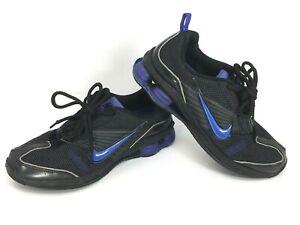 NIKE-SHOX-IZI-Women-039-s-Size-8-5-Black-Purple-Running-Shoes-Sneakers