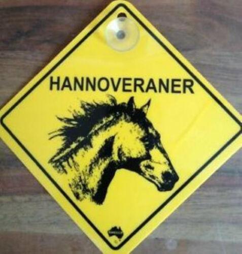 12cm roadsign bouclier avec ventouse Hanovres danger cheval
