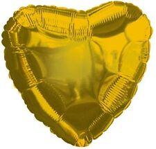 "18"" Solid Gold Heart Shape Balloon Wedding Baby Shower Birthday Over Hill Luau"