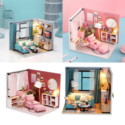 Pack of 2 Mini Living /& Reading Room DIY Assembly Kit Valentine/'s Day Gifts