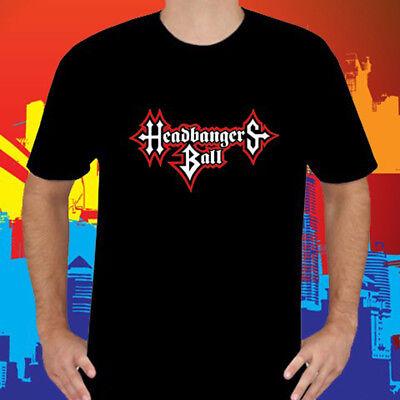 New HEADBANGERS BALL Logo TV Show Black Long Sleeve T-Shirt Size S-3XL