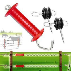 2x Red Heavy Duty Gare Poignée + 4x Porte Ancre Isolateur Clôture électrique-afficher Le Titre D'origine Bon GoûT