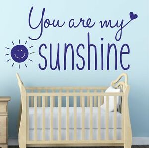 Image Is Loading You Are My Sunshine Wall Sticker Quote Vinyl