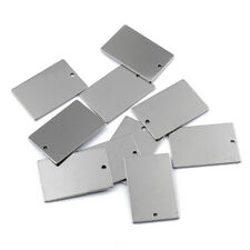 """1//2*2 1//4/"""" Stainless steel Rectangle Stamping Blank with holes 10pcs 10234450"""
