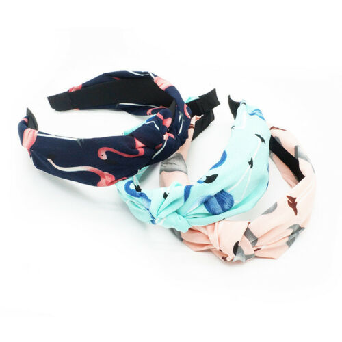 Knot Plastic Hairbands Headbands for Women Girls Fabric Floral Hair Accessories
