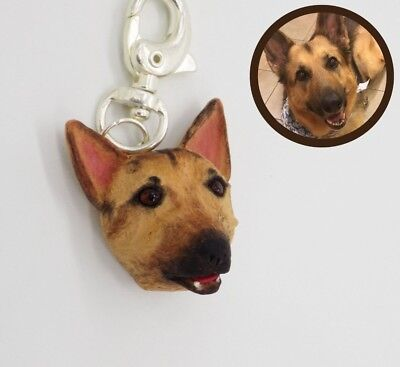 Handmade personalized beloved dog cat miniature charm OOAK figurine hand sculpted FIMO polymer clay