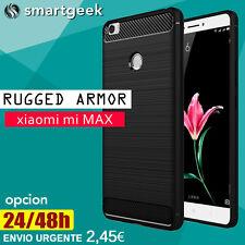 FUNDA TPU Gel  para XIAOMI MI MAX armor tough neo slim shock case fiber carbon