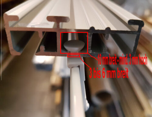 Profi Paneelwagen aus Aluminium in silber oder weiß für Schiebegardinen