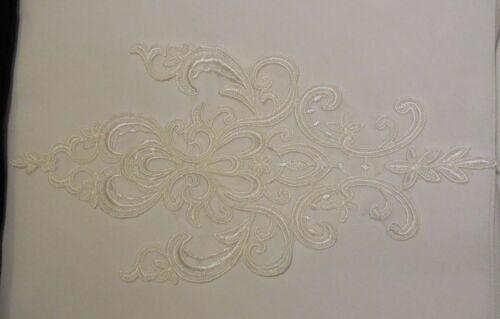 Marfil Traje de Encaje Floral Bolero De Encaje De Algodón Marfil Con Apliques Motif Parche vendedor del Reino Unido