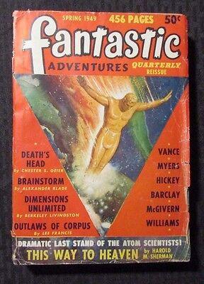1949 FANTASTIC ADVENTURES Pulp Magazine v.7 #1 G/VG 456pgs Spring