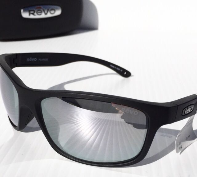 192f5b8046b NEW! REVO HARNESS Matte Black w Mirror Grey POLARIZED Lens Sunglass 4071 11  ST