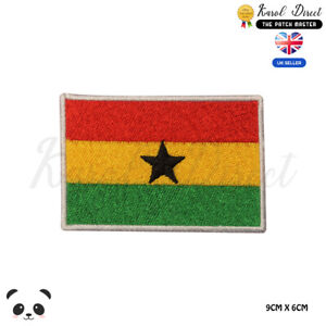 GHANA National Flag Embroidered Iron On Sew On PatchBadge For Clothes etc