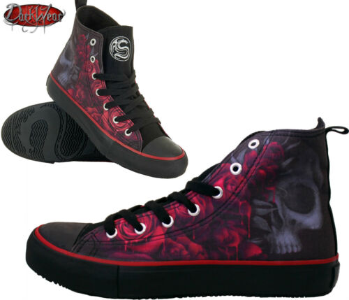 skull Shoes Spiral roses Sneakers Canvas Top Direct Lace Ladies angel High Up q6Ovn7q