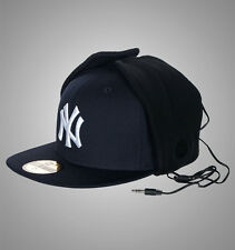 New Era 59Fifty New York Dog Ear Headphone Flat Peak Bucket Hat / Cap