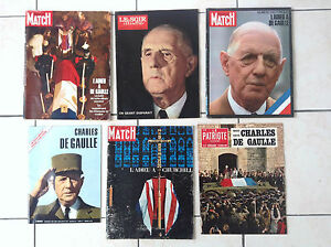 Lot-d-039-anciennes-revues-Generale-De-Gaulle-Patriote-Churchill-Deces