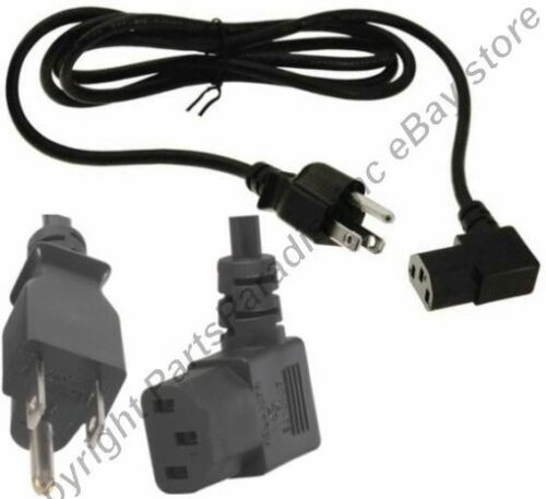 Lot8 6ft Right Angle//RA//Elbow Power Cord//Cable PC//AC//Printer IEC320 C13 10A 125V