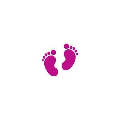 Autocollant pied empreinte pas sticker couleur Taille:8 cm couleur : rouge