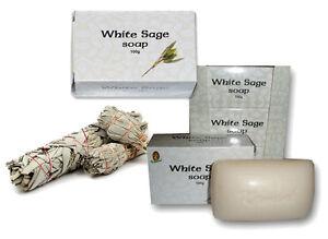Kamini White Sage Purifying Beauty Bar Soap Natural Smudge Stick 100% Vegan
