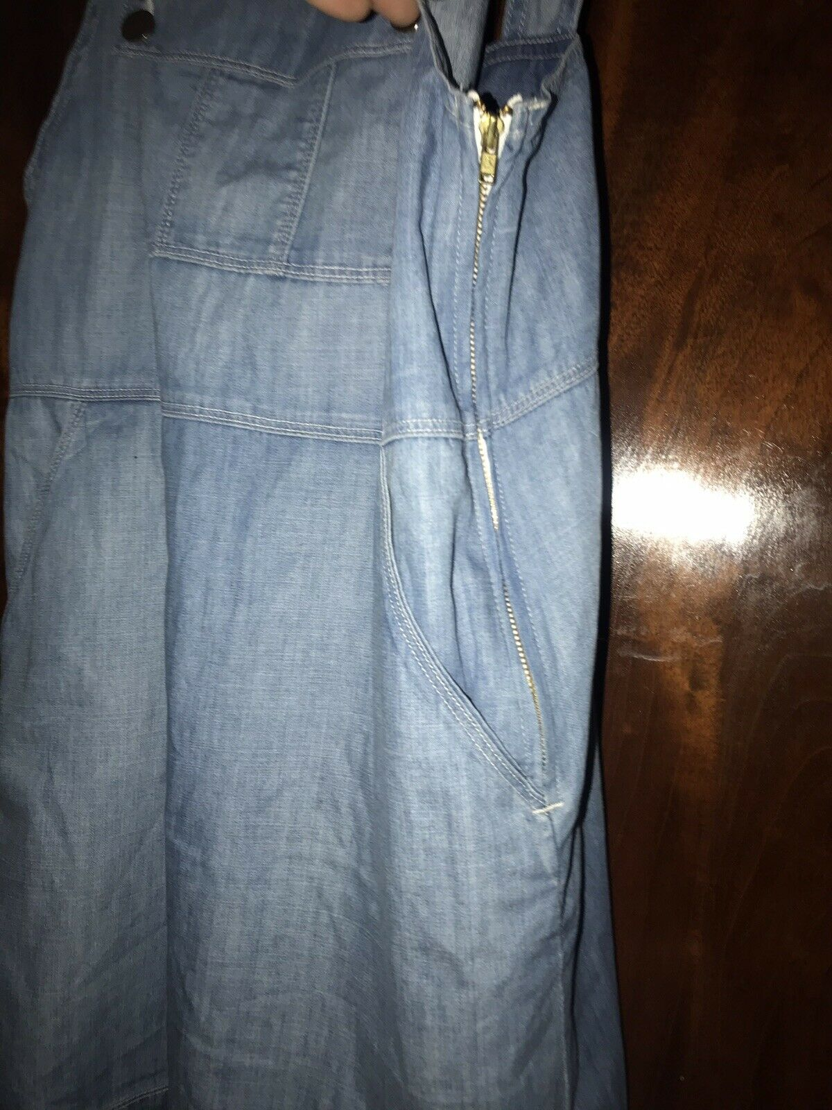 Frame Le apron Reese Soft Denim Overall Skirt Dre… - image 2