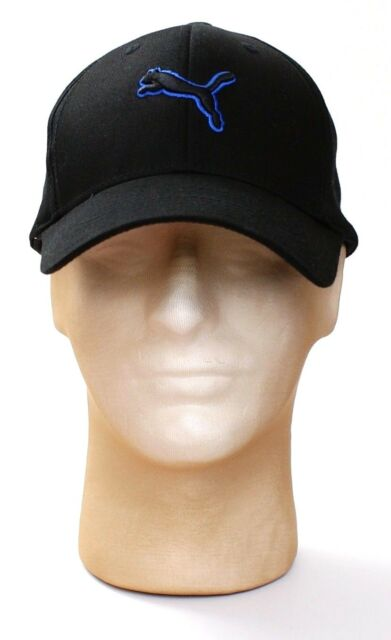 online retailer f53fa 70542 ... low price puma black cat logo mx cotton stretch fit cap hat adult one  size nwt