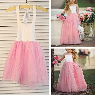 b6cbb42c1 Niña Vestido Pequeña Princesa Boda Falda Noche Suave Traje de Fiesta Moda |  eBay