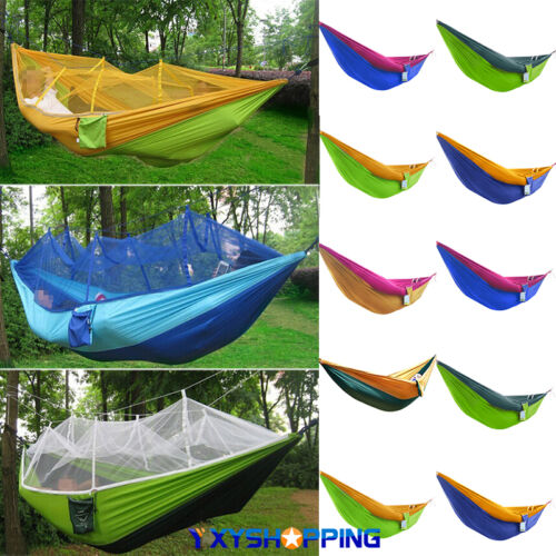 Outdoor Camping Travel Parachute Single Nylon Hammock Sleeping Swing Hanging Bed