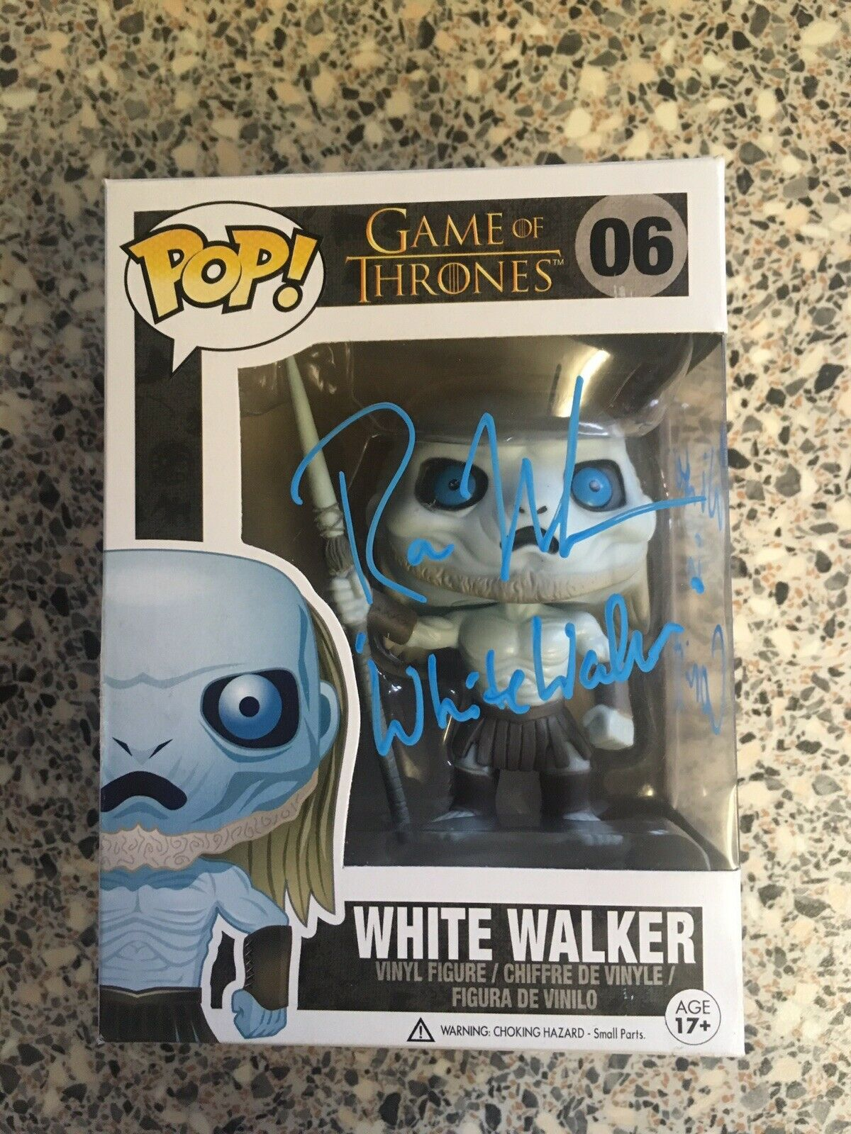 Game Of Thrones - Weiß Walker Ross Mullan Signed Cargraph Funko Pop