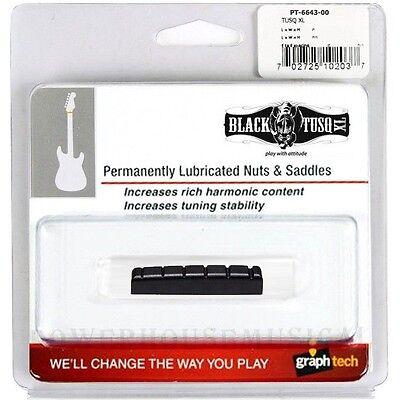GRAPH TECH BLACK TUSQ XL SLOTTED NUT FOR PRS SE GUITARS 43X6mm *NEW* PT-6643-00