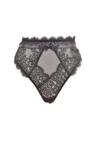 L/'Agent by Agent Provocateur Women/'s Lace High Waist Thong Black RRP £45 BCF87
