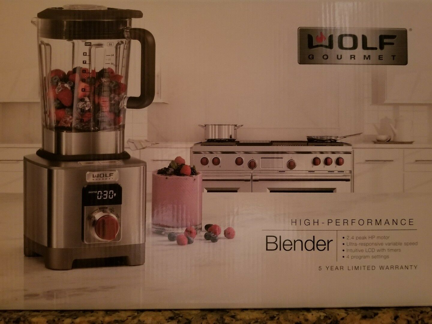 Sub Zero Wolf Gourmet High Performance Blender - WGBL100S - Brand New In Box