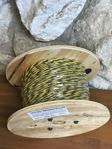 16AWG SOLID-TFN YELLOW//BROWN TWISTED PAIR      IN LENGTHS FROM 430-850 FEET