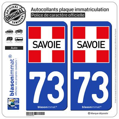 Armoiries blasonimmat 2 Autocollants Plaque immatriculation Auto 74 Pays de Savoie