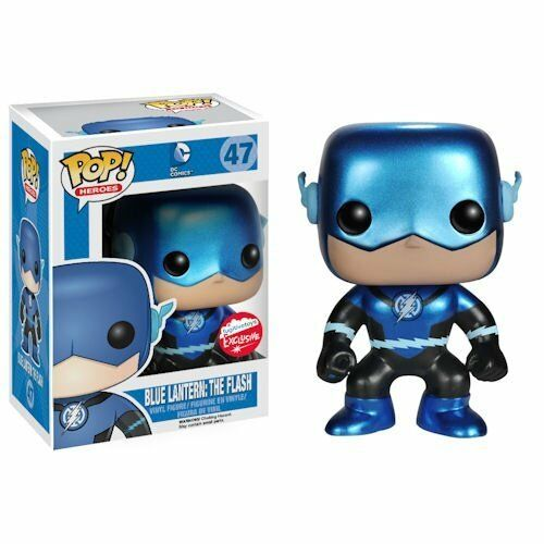 Funko Pop  WonderCon Exclusive Blau Lantern    The Flash Metallic Variant  47 2a109a