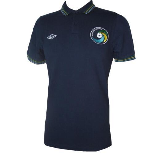 New York Cosmos Umbro Polo Shirt Light Dark Blue Retro Football Jersey