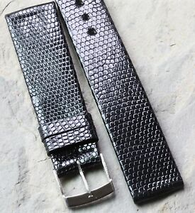 Short-Genuine-Lizard-18mm-vintage-watch-strap-Made-in-France-1960s-70s-20mm-sold
