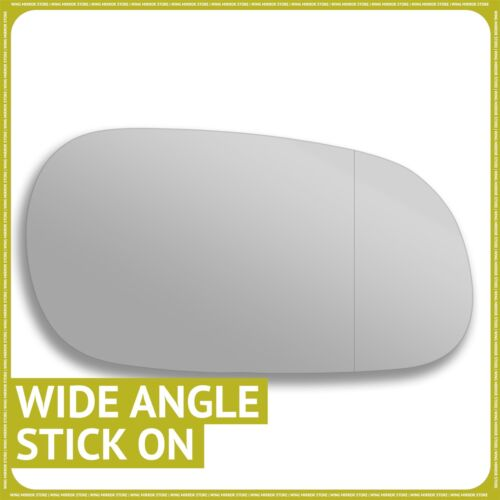 Right hand Driver side for Mitsubishi Carisma 95-06 wing mirror glass Wide Angle