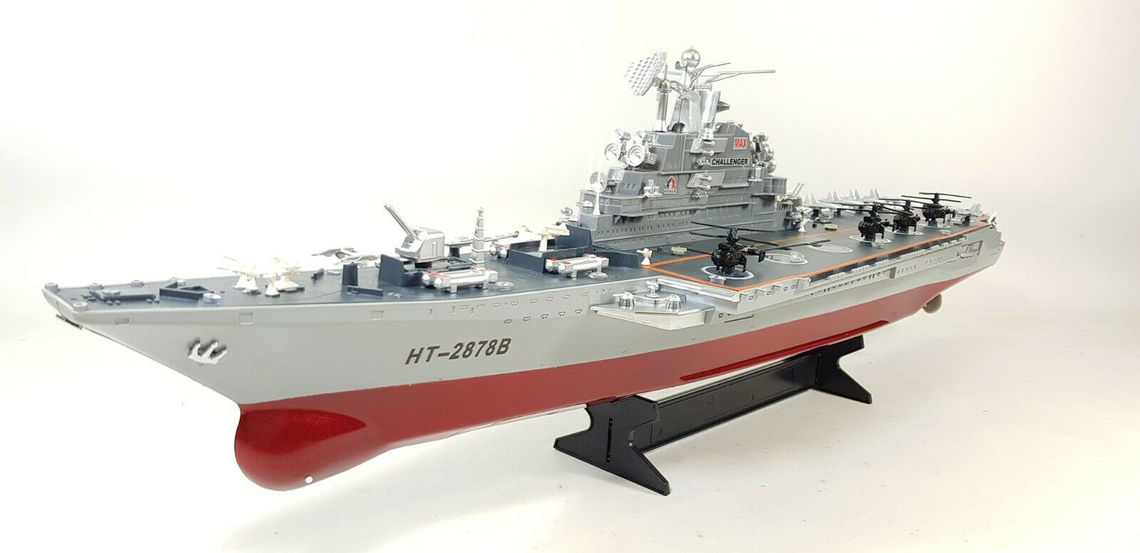 2.4GHz RC Radio Control Navy Aircraft bilrier Boat Warship Toy Gift
