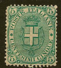 ITALY : 1891 5c green   SG 55 mint