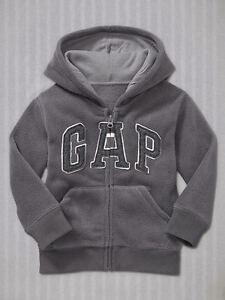 Détails sur Neuf Gap Gris Polaire Sweat à Capuche Logo Taille 12 18m Mois 2T 3t 4T