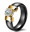 Indexbild 10 - KERAMIK Ring STRASS silber gold Fingerring weiß schwarz LUXUS +++ AUSWAHL