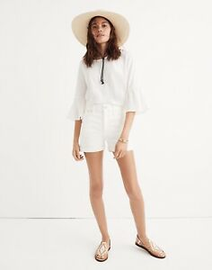 MADEWELL-High-Rise-Denim-Shorts-in-Tile-White-110-Size-29