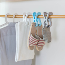 4Pcs Plastic Towel Clip Hanger Strong Windproof Outdoor Drying Clothes Clips QK