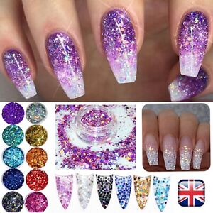 CHUNKY-GLITTER-MIXED-HOLOGRAPHIC-MIX-Face-Body-Cosmetic-Sequins-Sparkly-Nail-Art