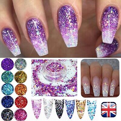 Chunky Glitter Mixed Holographic Mix Face Body Cosmetic Sequins Sparkly Nail Art Ebay