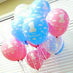 Hot 510Pcs Baby 1st Round Boys Girls Birthday Decoration 12 Latex