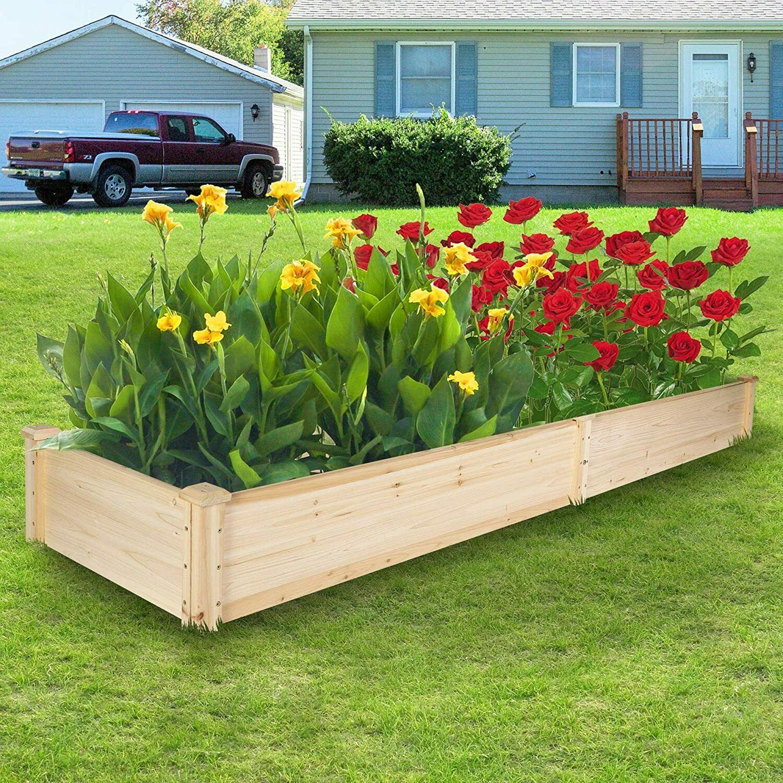 Raised Garden Bed Set Outdoor Yard Flowers Planter Box Kit For Sale Online Ebay