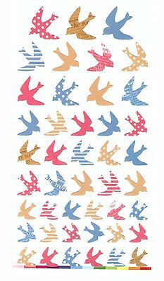 1 x colourful Swallows Novelty Stickers Craft Scrapbook Card  DIY #356