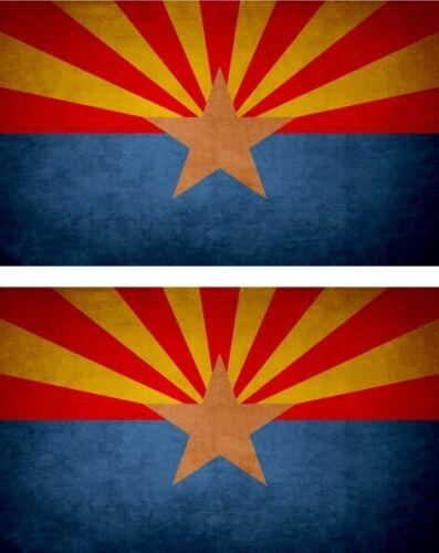 2x Sticker aufkleber Flaggen flagge fahne vintage arizona AZ