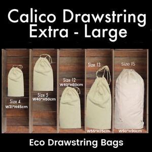 Image is loading Large-Calico-Drawstring-Bags-Storage-Drawstring-Calico-Bags - 4db301335c30d